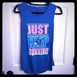 Just Keep Running Dory RunDisney Tank Top Medium